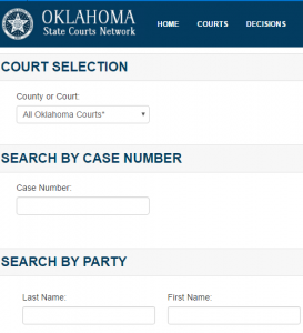 Oklahoma Docket Search